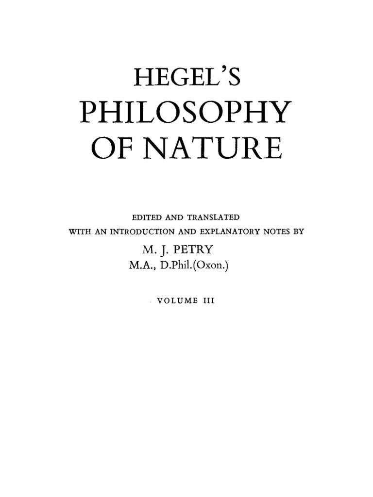 Mouvement Citoyen Alexandre Jardin Nouveau G W F Hegel Philosophy Of Nature Vol 3