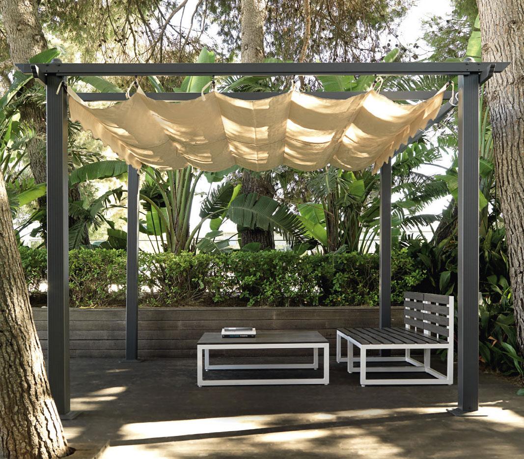 pergola aluminium jardin parasol
