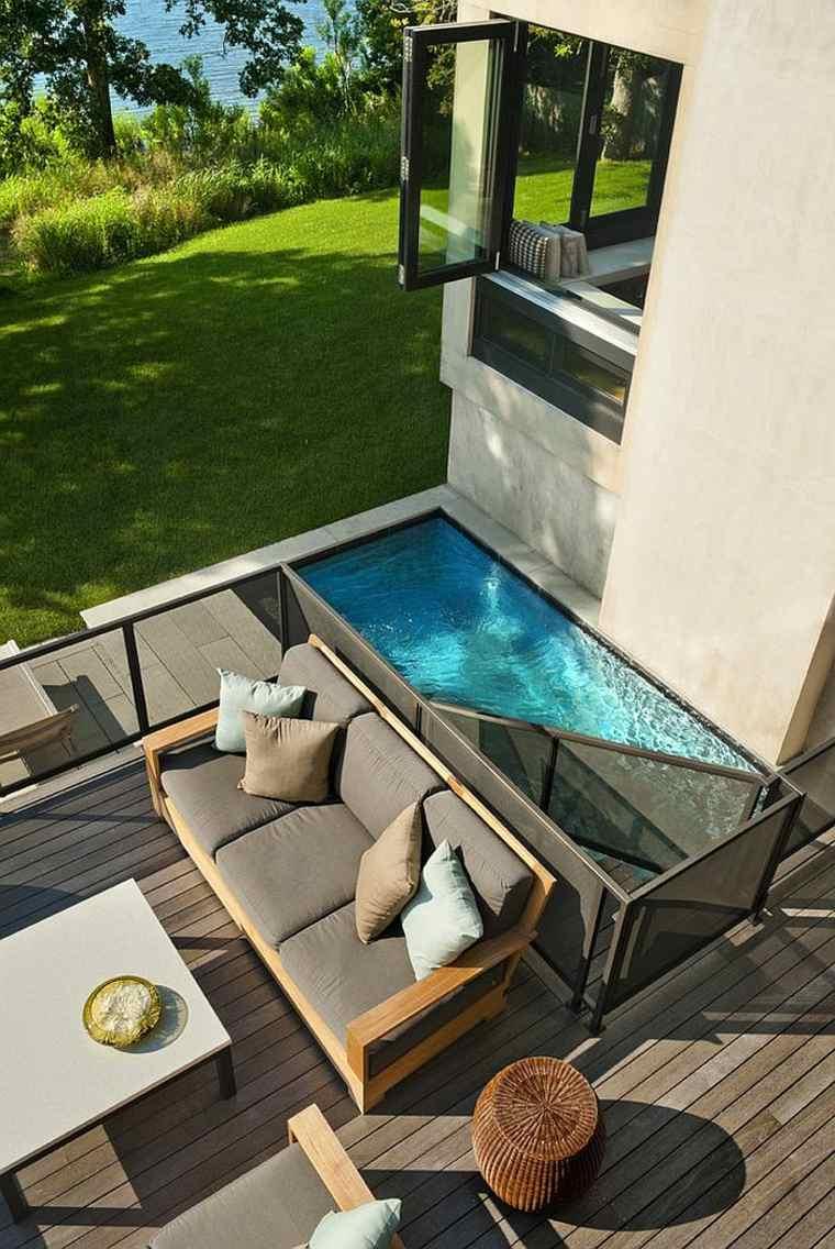 petite piscine deux etages