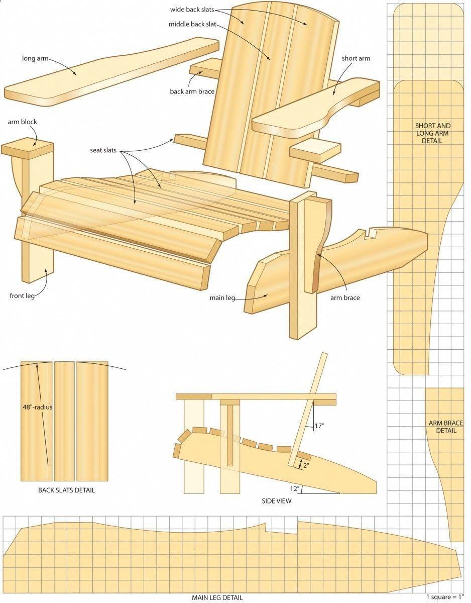 Plan Fauteuil Adirondack Beau Free Woodworking Plans Adirondack Chair