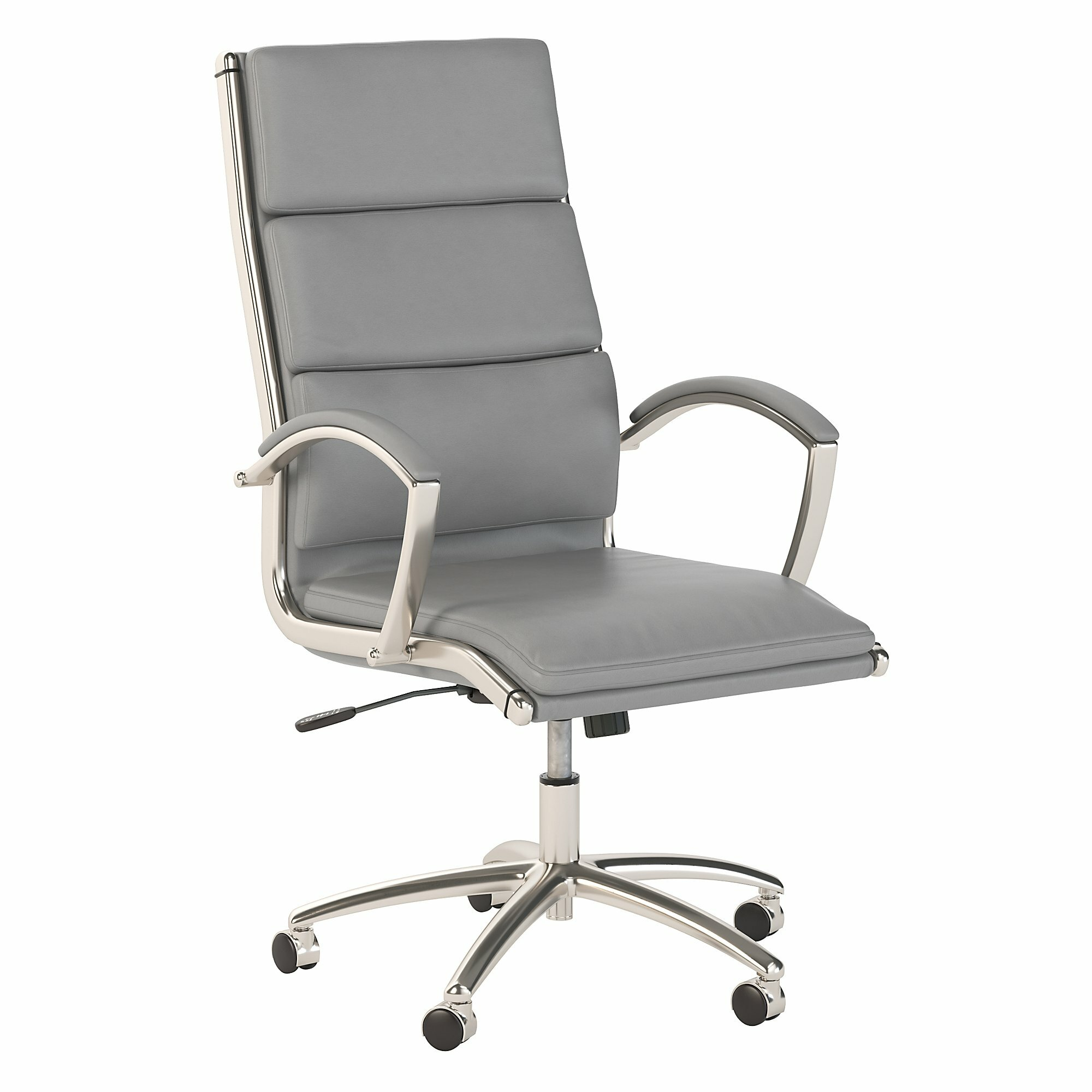 bush business furniture 400 series high back leather conference chair