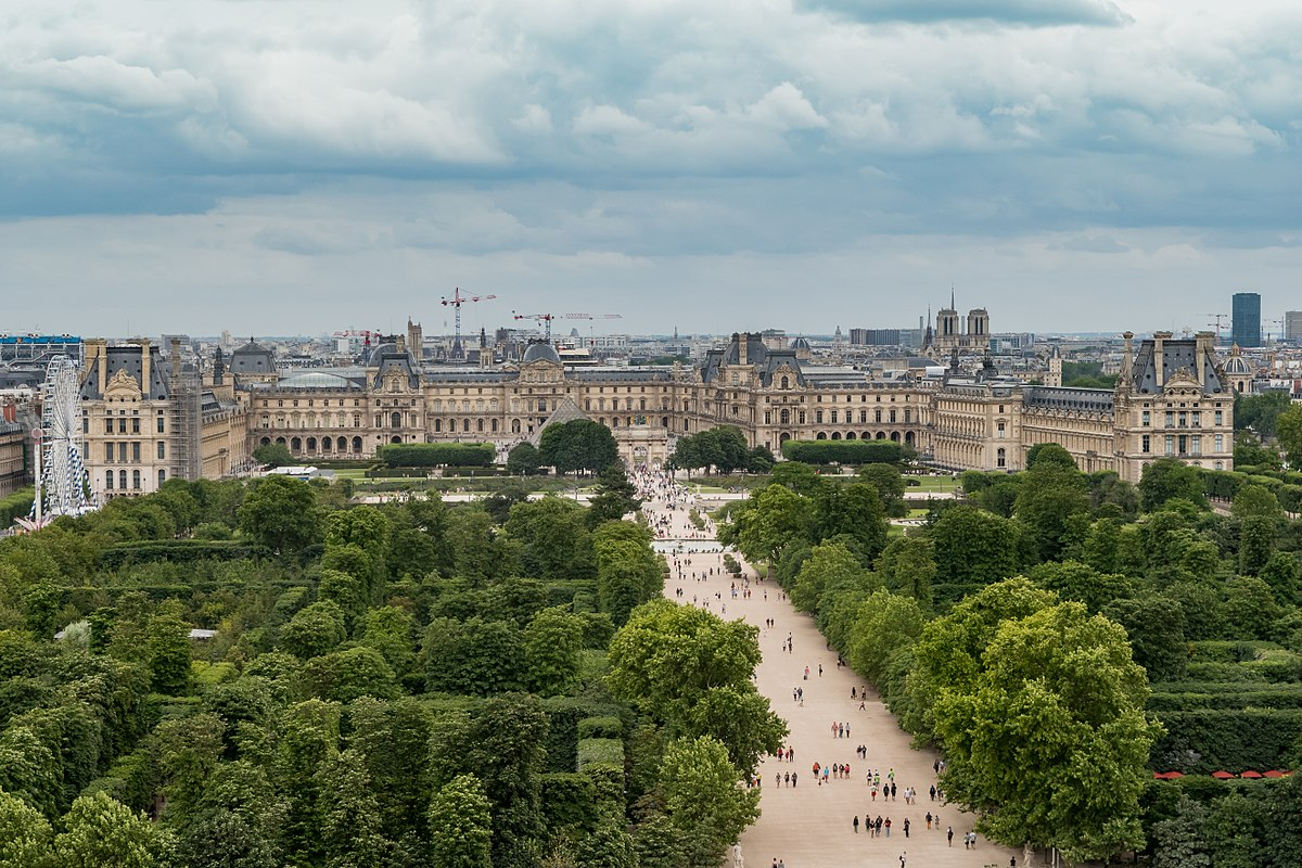 1200px Louvre Museum from the Roue de Paris 11 July 2016