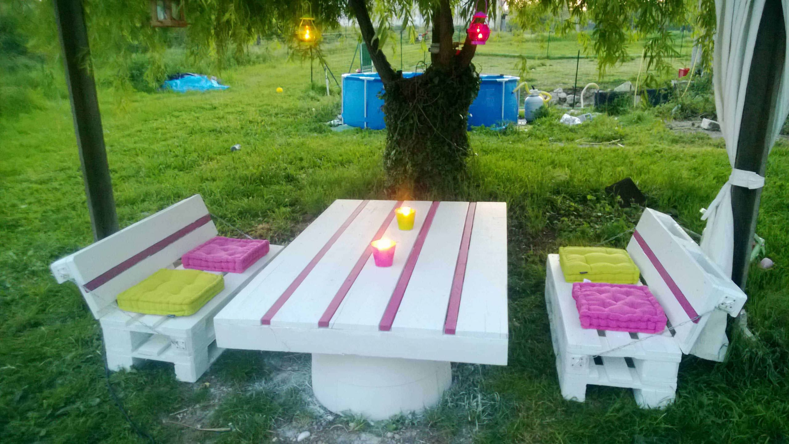 1001pallets pallets garden set salon de jardin en palettes