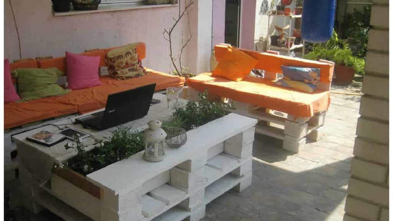 mobilier de jardin en palette beau pallet coffee table with planter e280a2 1001 pallets de mobilier de jardin en palette