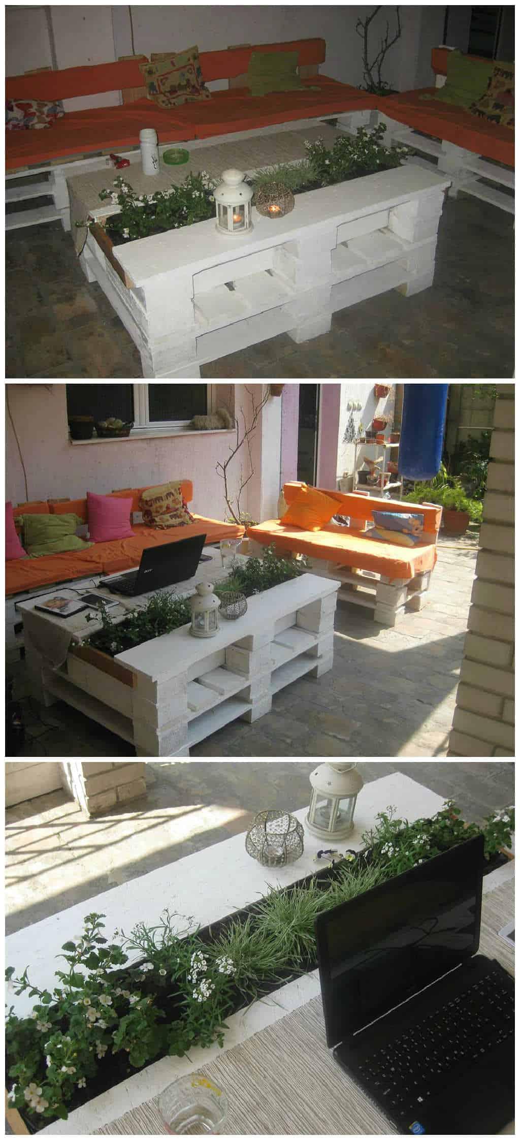 1001pallets sto od paleta sa cvecem pallet coffee table with planter