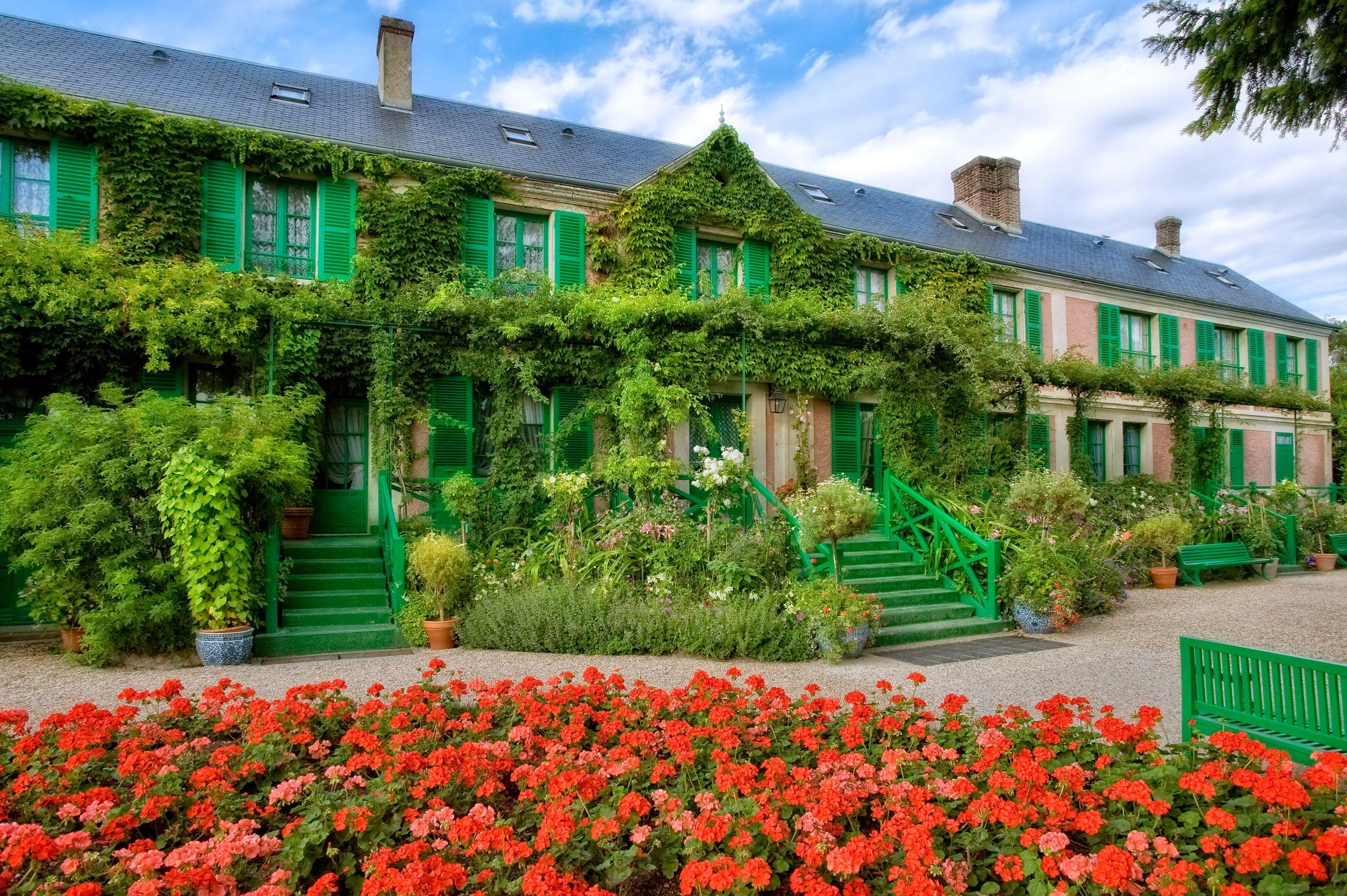 La Maison vue du Clos Normand