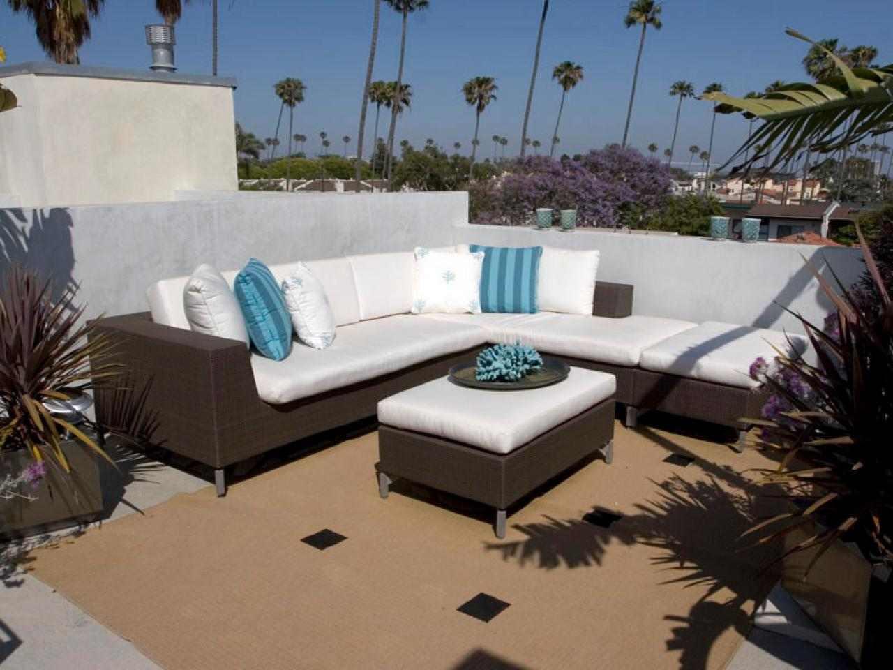 canape exterieur idee salon jardin minimaliste deniser pas cher bleu