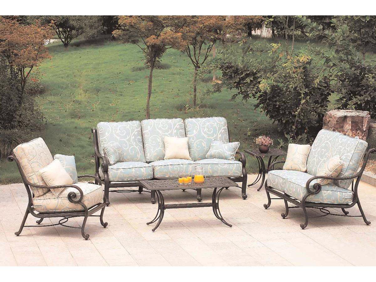 salon de jardin en fer forge mobilier de jardin L05