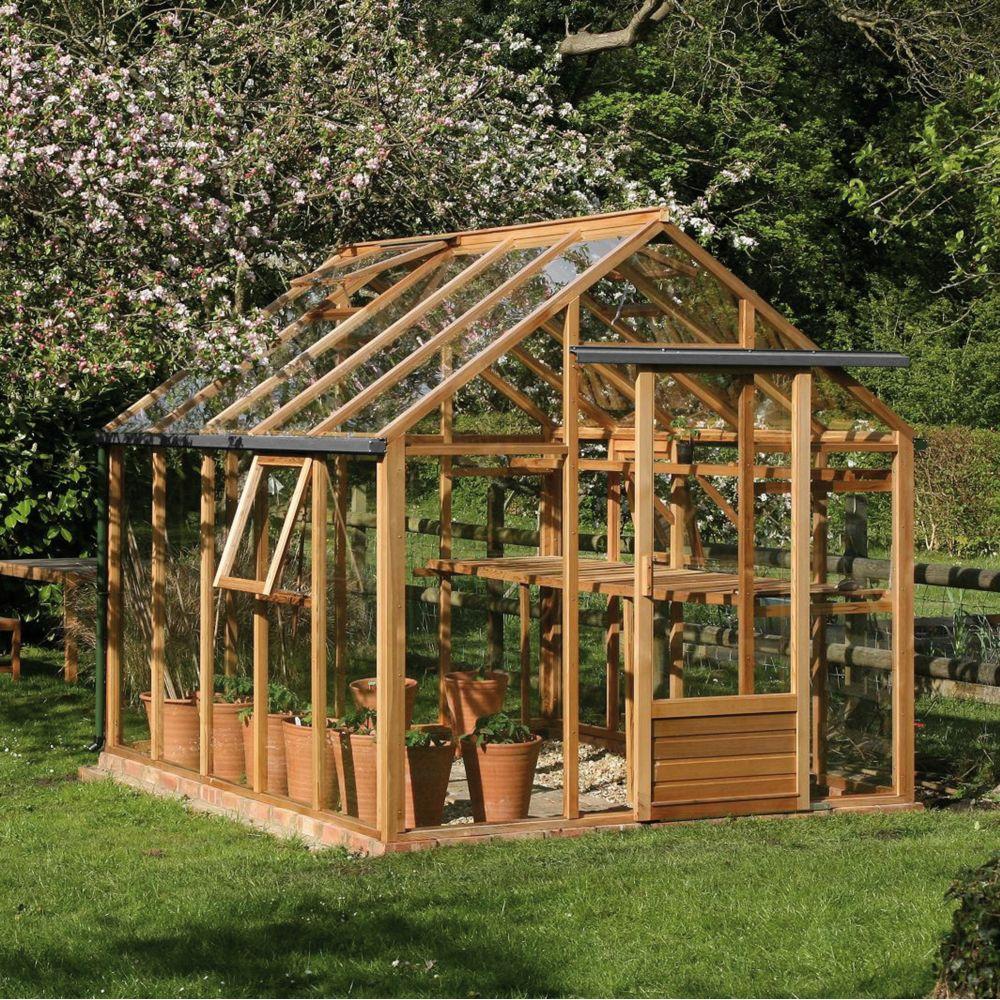 serre de jardin en bois et verre trempe classic 720 m2 hors tout cedre rouge juliana 6