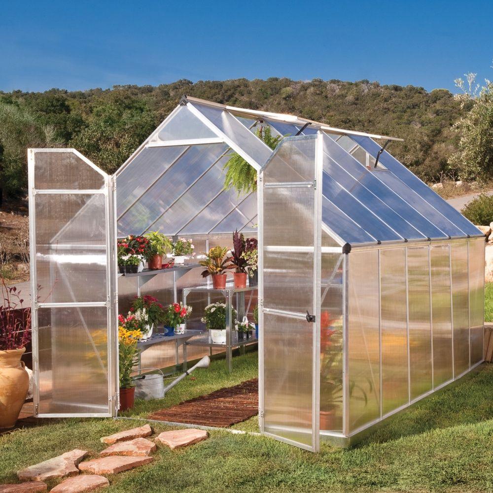 serre de jardin essence polycarbonate 880m2 embase palram
