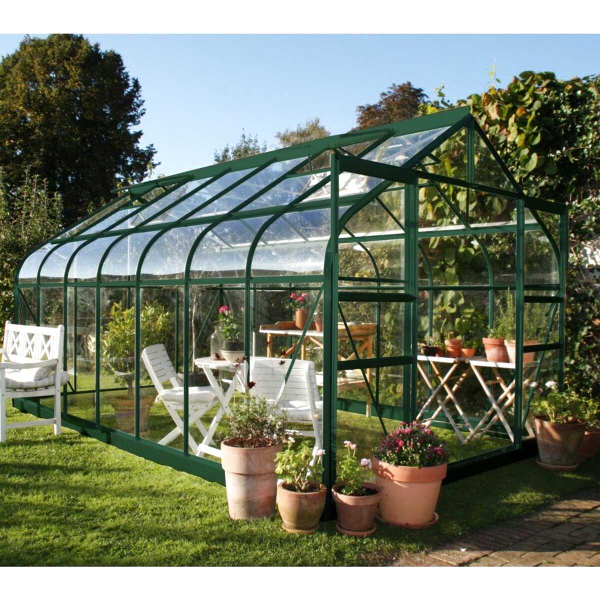 serre de jardin supreme verre trempe 114m2 embase halls 5 serre jardin