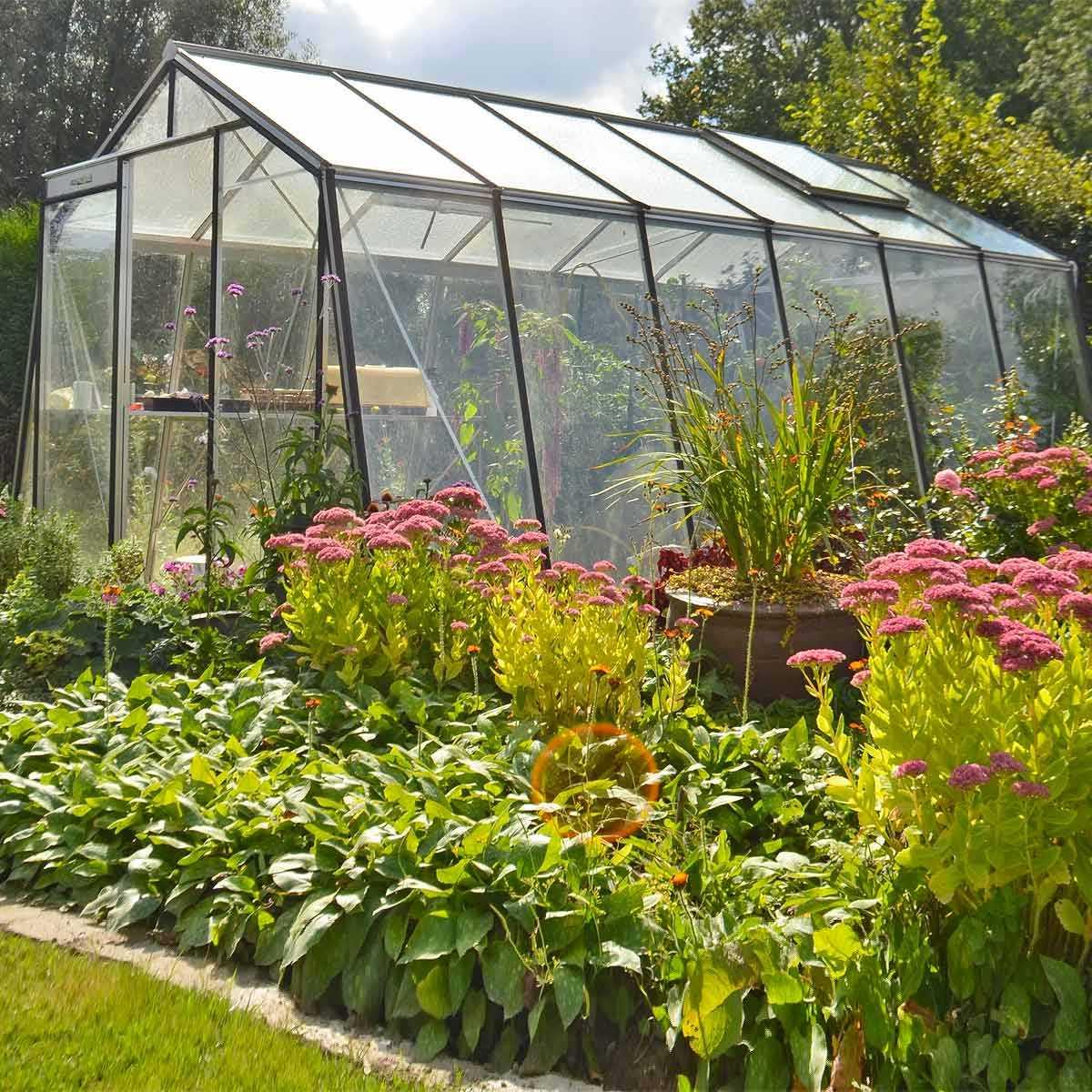 serre jardin alu oblique S106