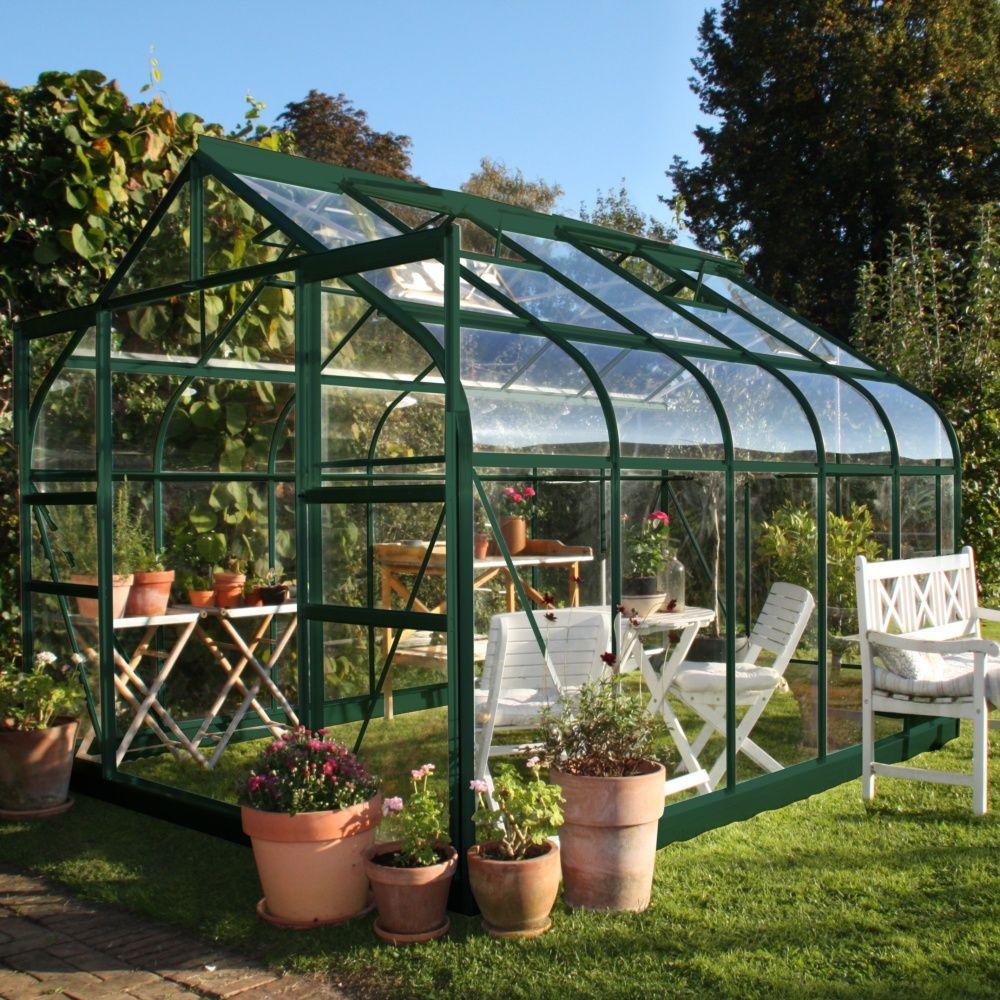 serre de jardin supreme verre trempe 81 m2 halls