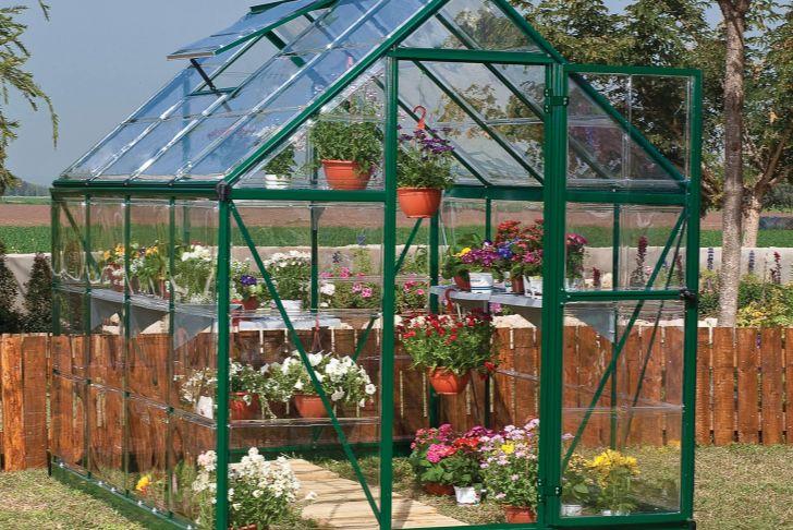 Serre De Jardin En Verre Leroy Merlin Beau Serre De Jardin Verte Harmony 4 5 M² Aluminium Et Polycarbonate Palram