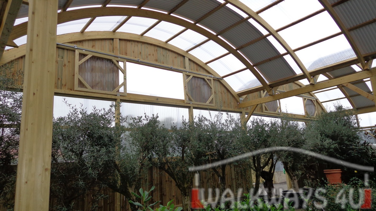 laminated wood construtions walkways terraces carports serres de mieres