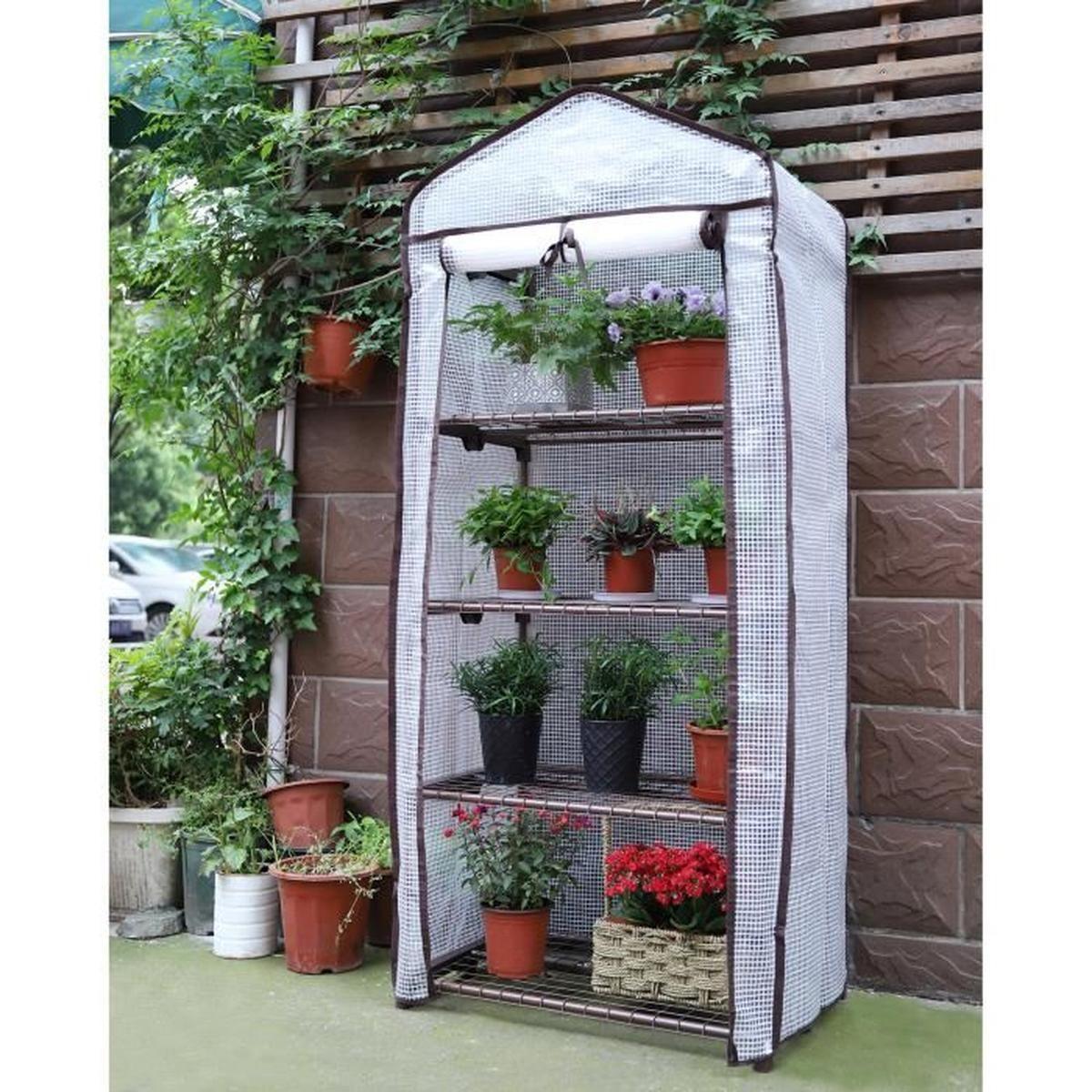Serre De Jardin Polycarbonate Génial Sekey Serre De Jardin 4 étages étag¨re Avec B¢che Amovible