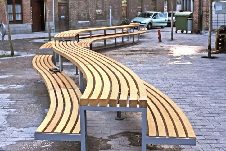 Super Jardin tournai Charmant Picnic Table Curved Outdoor Contemporary tournai
