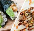 Sushi Jardin Best Of Spicy Scallop Sushi Roll and Temaki Sushi Hand Roll