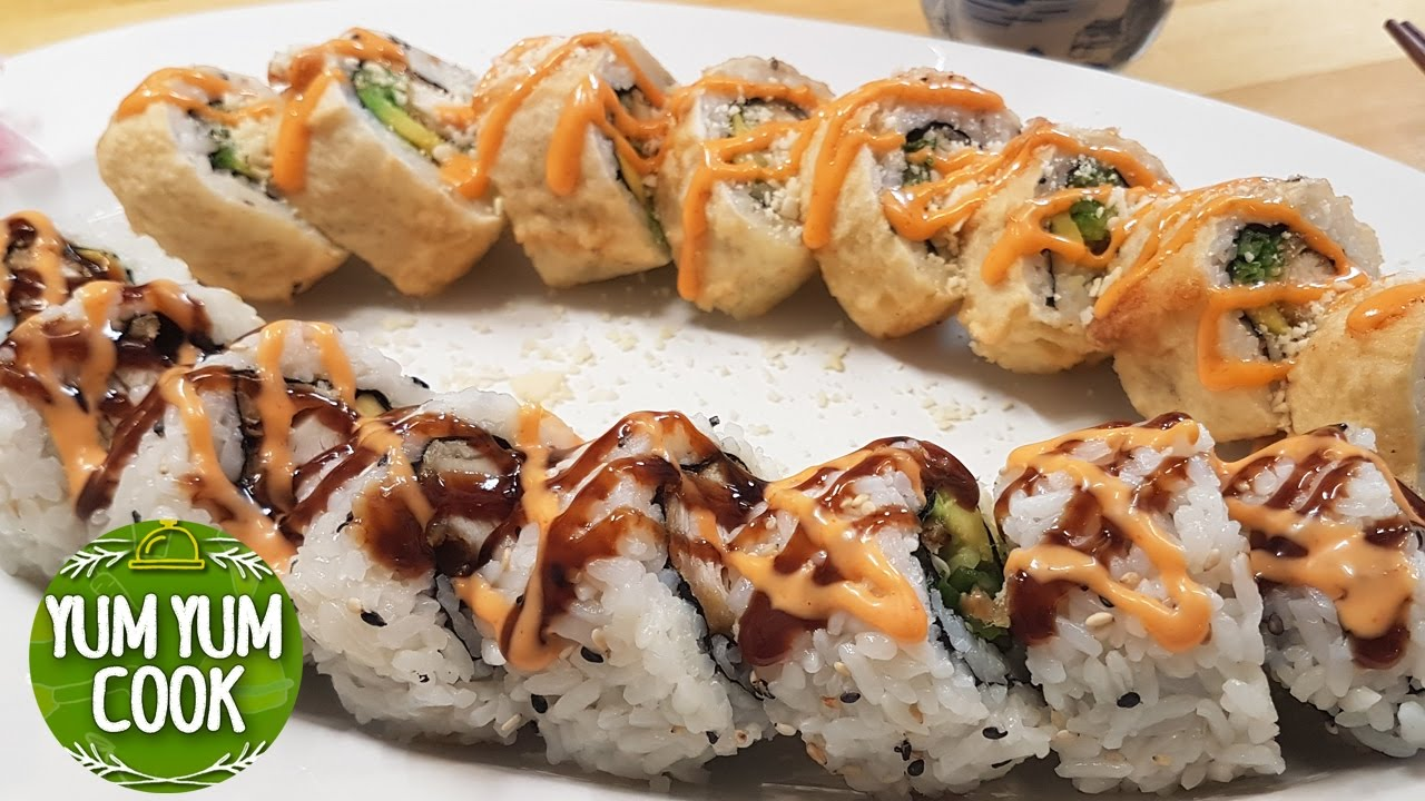 Sushi Jardin Charmant Deep Fried Chicken Sushi Roll