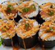 Sushi Jardin Élégant Spicy Salmon Sushi Roll Spicy Mayo Sauce