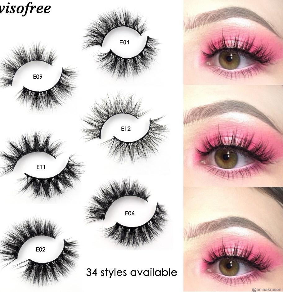 Visofree Mink Lashes 3D Mink Eyelashes 100 Cruelty free Lashes Handmade Reusable Natural Eyelashes Popular False