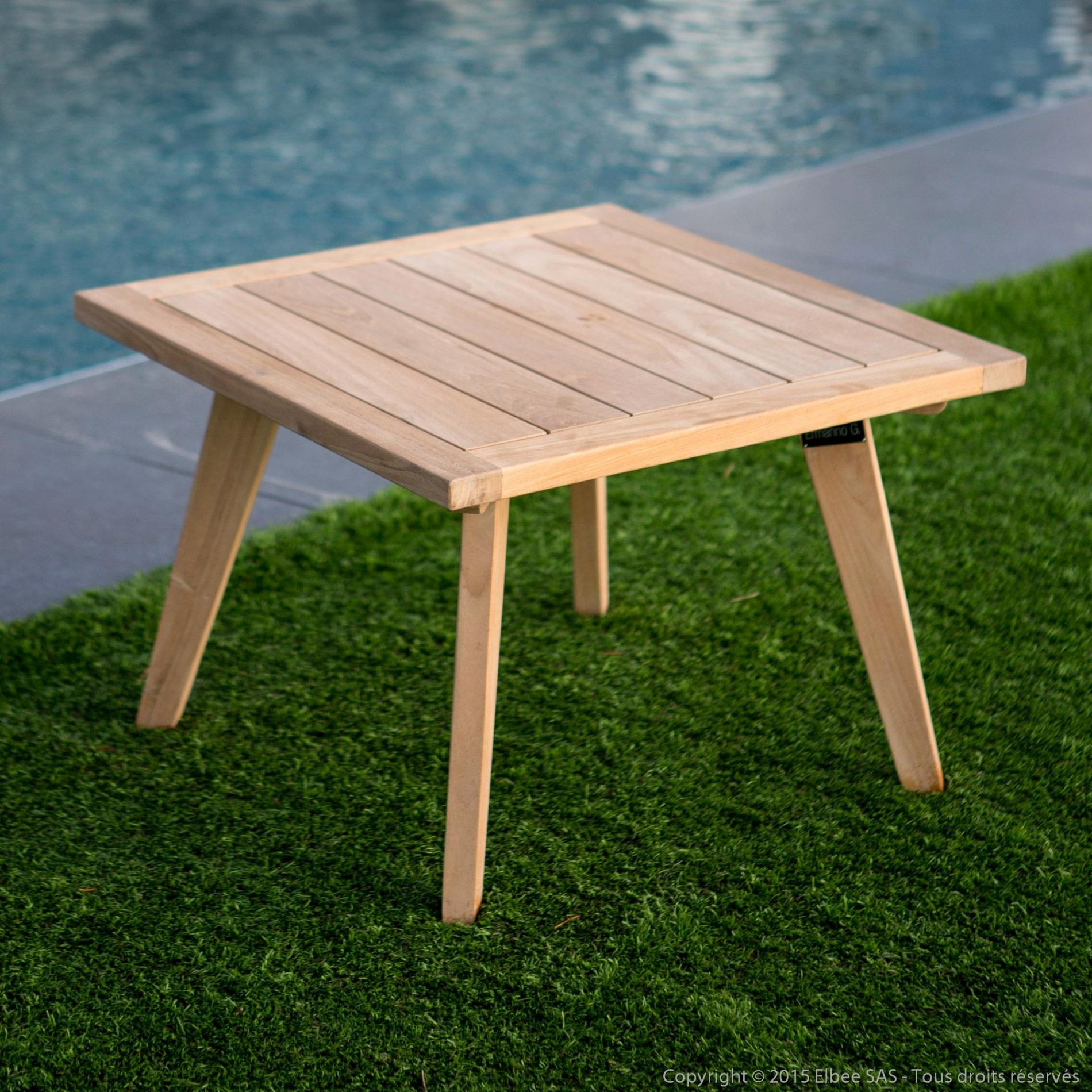 table basse teck luxe table basse de jardin en teck brut 60x60cm ethnika table 300 cm of table basse teck