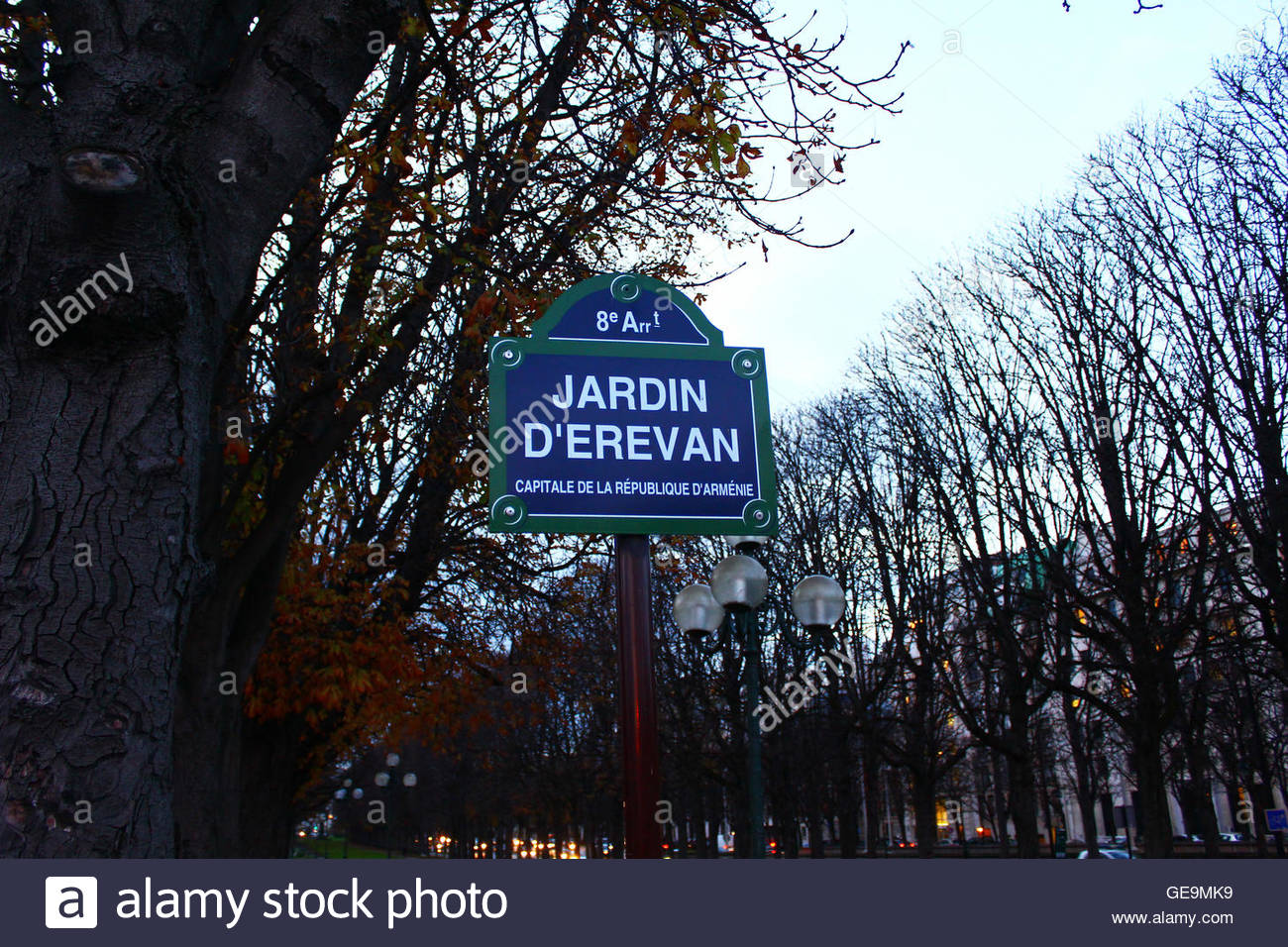 the street in paris france with armenian street name GE9MK9