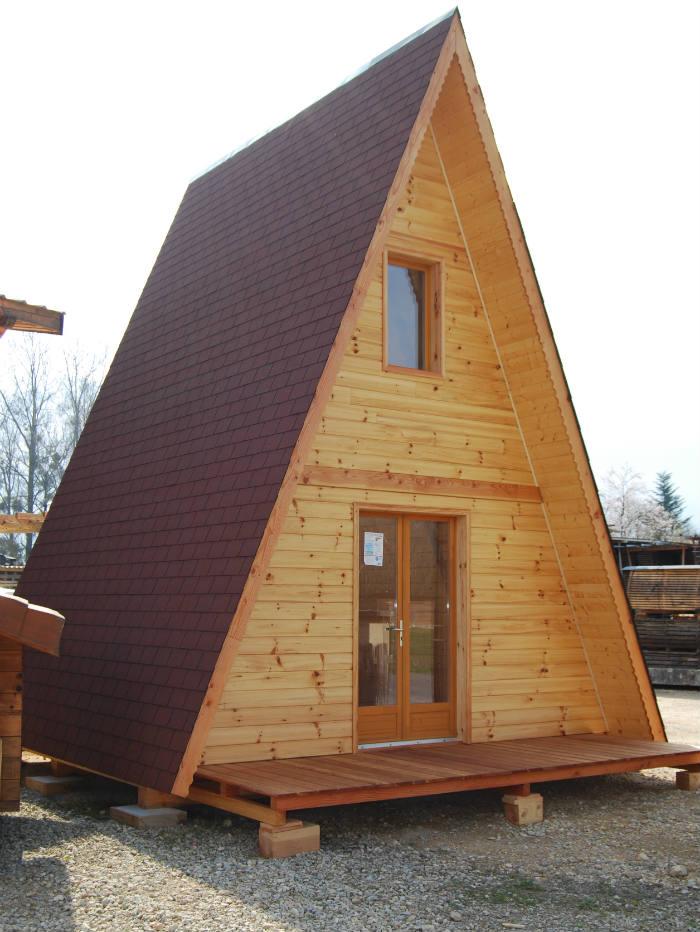chalet en sapin de 50 m2 sans permis de construire