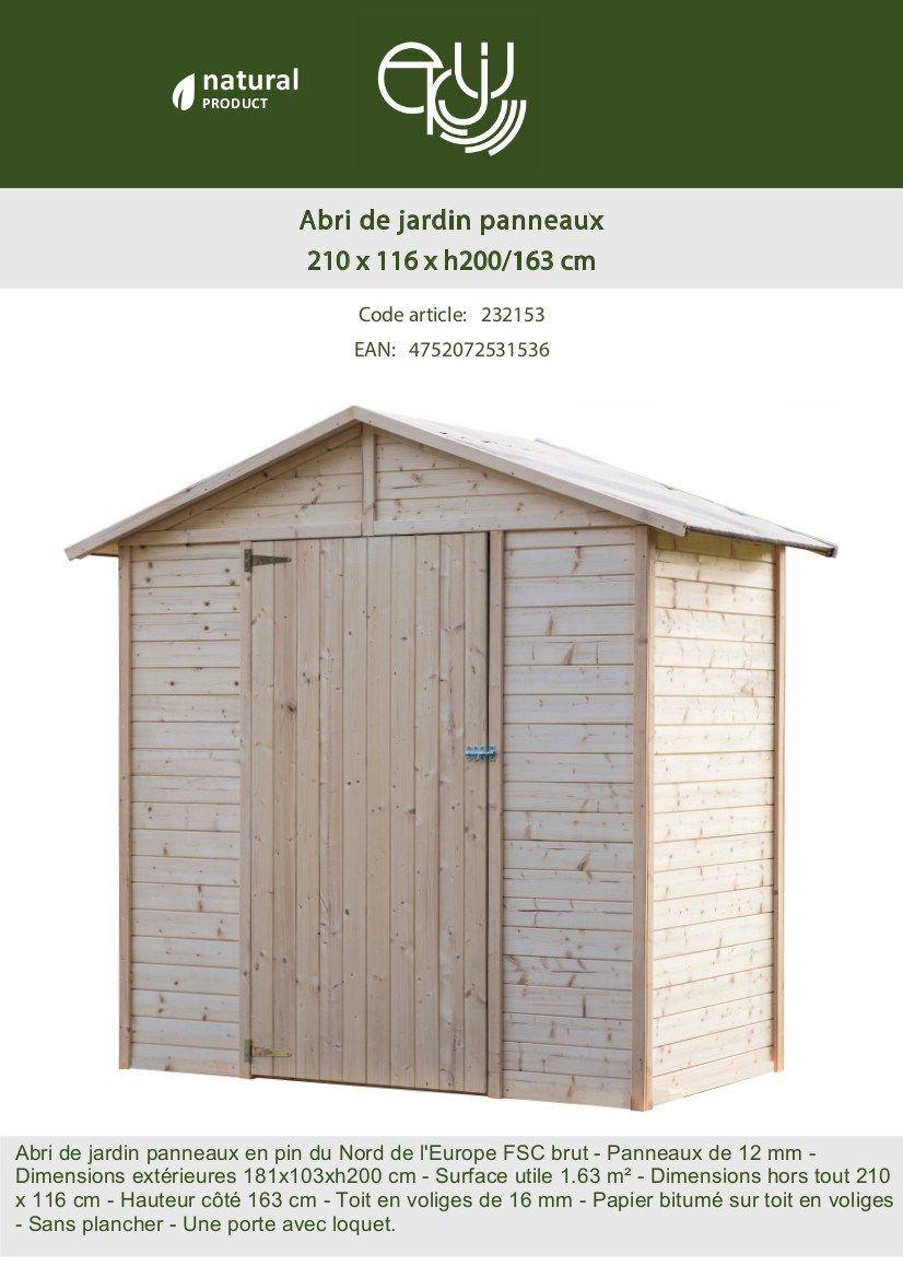 Faire Une Dalle Béton Pour Abri De Jardin Charmant Abri De Jardin En Sapin Fsc 2 43m² 181x103xh200 Cm Achat