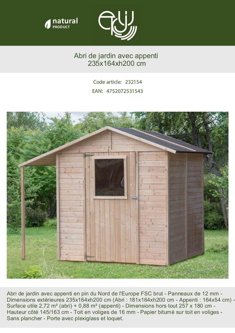 Faire Une Dalle Béton Pour Abri De Jardin Inspirant Abri De Jardin Bois Abri B Ches Fsc 4 21m² L 235 X L