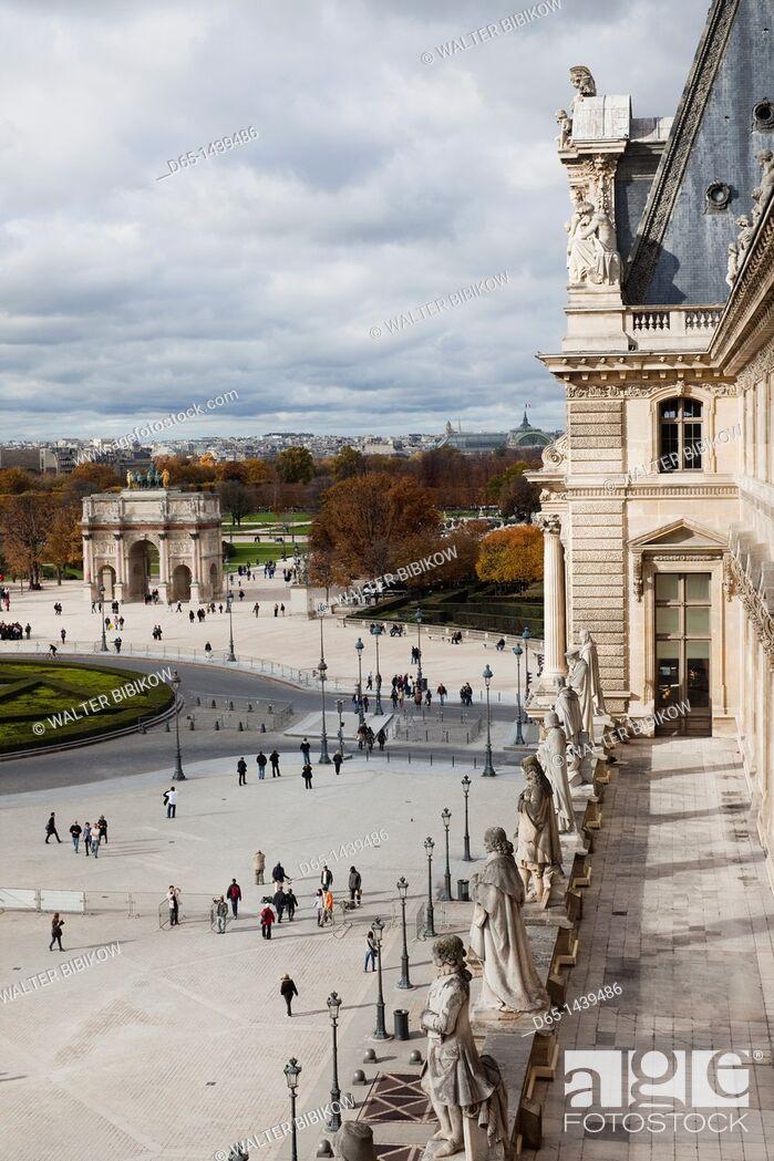 Jardin Du Louvre Beau France Paris Musee Du Louvre Museum Elevated Courtyard