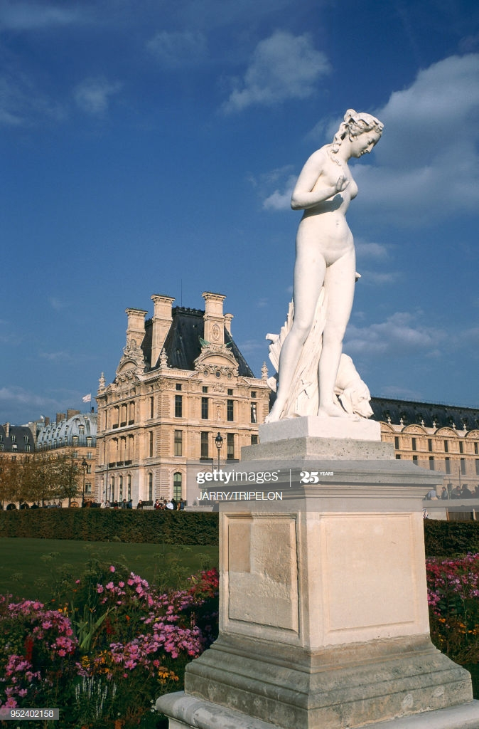paris the tuilerie gardens and louvre museum paris jardin des et du picture id