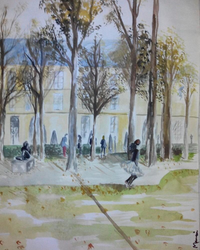 Jardin Du Louvre Frais Peinture Jardin Du Louvre