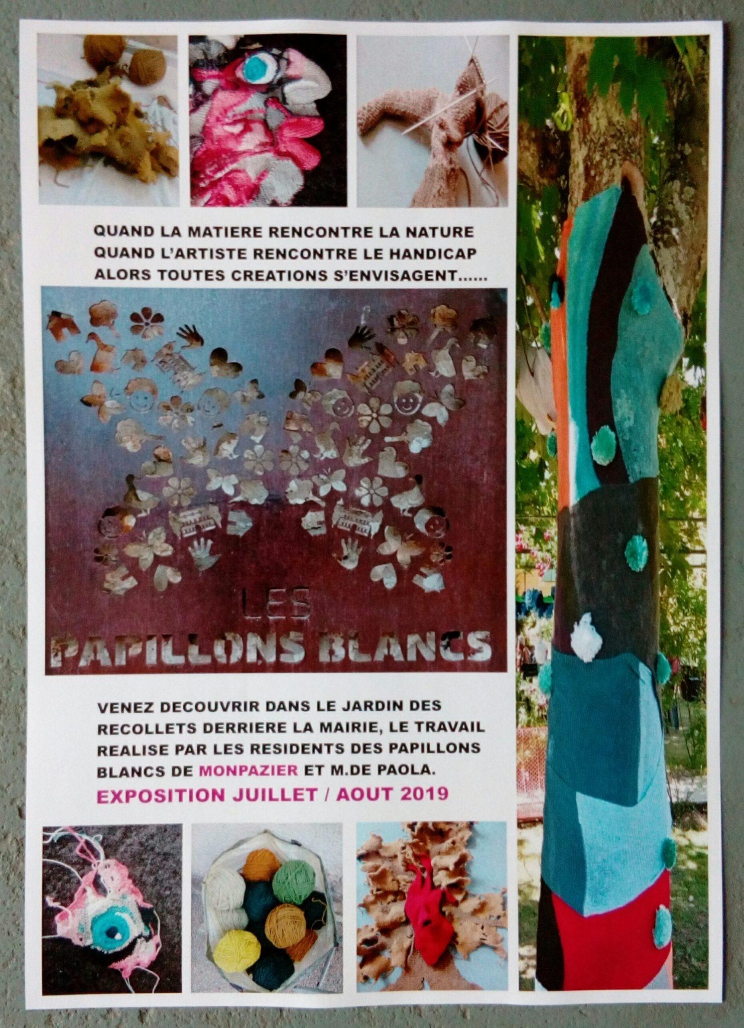 Le Jardin Des Papillons Unique Exposition Estivale Des Usagers Du Foyer Jacques Delprat Au