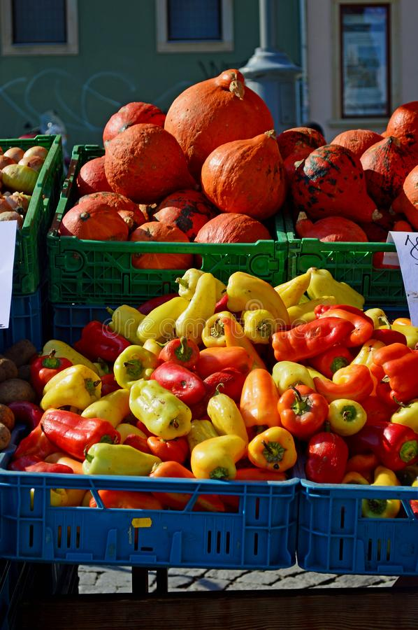 autumnal fruit pumpkins squash peppers sale cabbage market zelný trh situated middle historical